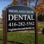 Highland Creek Dental - Signage