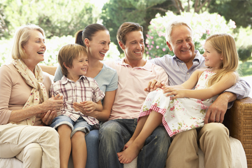 Dental Services - Dr. Sara Razmavar - Highland Creek Dental - Family Smiling